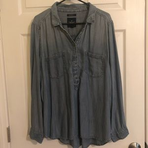 AEO Boyfriend Fit Denim Shirt